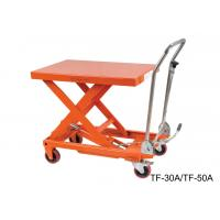 Hydraulic Compact Manual Scissor Lift Table High Capacity For Assembly Line