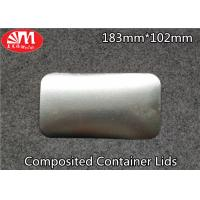 Wholesale Recyclable Foil Tray Lids Aluminium / Paper Composited 183mm×102mm Size from china suppliers