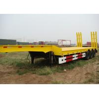 Wholesale 3 Axles Lowboy Gooseneck Trailer 60 Ton Capacity For Transport Heavy Equipment from china suppliers