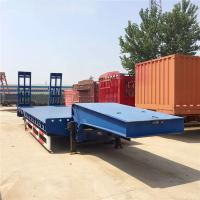 Wholesale Tri - Axle Heavy Duty Lowboy Semi Truck Trailer With 13 Tons Fuwa / BPW Axle from china suppliers