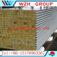 Wholesale rockwool sandwich panel / rockwool panel for the steel structure warehosue and workshop from china suppliers