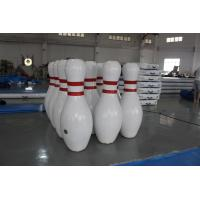 Buy cheap Big sealed inflatable bowling game interactive inflatable outdoor games airtight from wholesalers