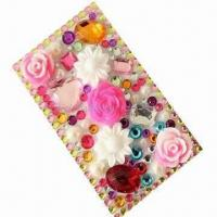 Wholesale Crystal sticker/bling sticker/rhinestone sticker for iPhone 4, OEM orders are welcome from china suppliers