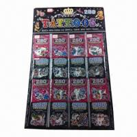 Wholesale Nontoxic Tattoo Stickers, Made of PVC and PE Materials, OEM Orders are Welcome from china suppliers