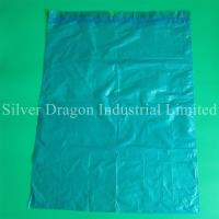 light blue drawstring garbage bags, made of HDPE, heavy duty, high quality, competitive price, professional producer
