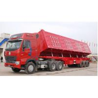 Wholesale 3 Axles 40CBM  Mid / Heavy Duty Side Dump Semi Trailer ( automatic side or rear dump optional )With 6 Set Cylinders from china suppliers