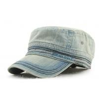Buy cheap Custom You Logo Military Cadet Cap Mens Casual Black Twill Cotton Style from wholesalers