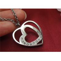 Wholesale Unique Stainless Steel Pendant Necklace , Double Heart Pendant Necklace For Couple from china suppliers