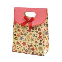 Wholesale Matte lamination Die cut printing gift Recyclable Coloured Paper Bags With Handles from china suppliers