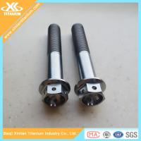 Half thread Gr5 titanium hex flange bolts with holes