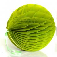 Wholesale Aloe Tissue Paper Honeycomb Balls Pom Poms With Loop For Hanging from china suppliers