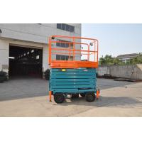 Buy cheap 11 Meters Self-propelled Mobile Scissor Lift , Mobile Manlift with Manganese Steel Lifting Arm from wholesalers