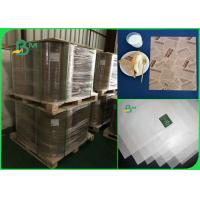 Buy cheap MG / one side coated 32 35 40 grams good brightness white kraft paper in rolls from wholesalers