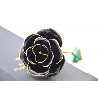Wholesale 24K pure gold rose , hand made gold plated rose for Valentine's day from china suppliers