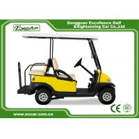 Wholesale EXCAR Yellow Electric Golf Carts Front 2 Seater Plus Rear 2 Seats 3.7KW Motor from china suppliers