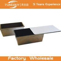 Wholesale Aluminium Non-Stick Corrugated Toast aluminium Mini non-stick bread pan- toast bread baking pan with lid from china suppliers