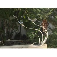 Wholesale Metal Bird Abstract Yard Sculptures / Metal Wave Sculpture For Indoor Decoration from china suppliers