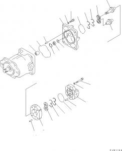 Wholesale SAR18 705-34-25640 HM350 Komatsu Loader Gear Pump from china suppliers