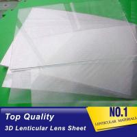 Wholesale Plastic  Lens PS/PET/PP Material 75/100/161 Lpi 3d lenticular lens sheet lenticular printing films with 3d flip effect from china suppliers