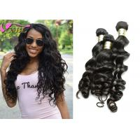 Wholesale Black Loose Body Wave Natural Human Hair Extensions Weft , Healthy  Eurasian Virgin Hair from china suppliers