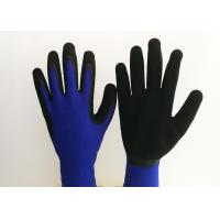 Wholesale Black Foam Latex Coated Work Gloves 13 Gauge Nylon Knitting Seamless Liner from china suppliers