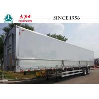 Wholesale 12 meter 30 tons aluminum alloy 2 axle wing van box trailer with light weight from china suppliers