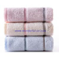 Wholesale Customized 100 cotton best rated blue decorative bath towel from china suppliers