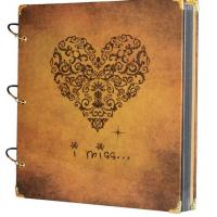 China Scrapbook Vintage Photo Album 27X26 Cm Heart Printed Surface on sale