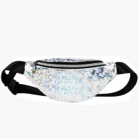 Wholesale Laser Sequin Waist Bag For Women Men Sports Outdoor Running Cycling Bag from china suppliers