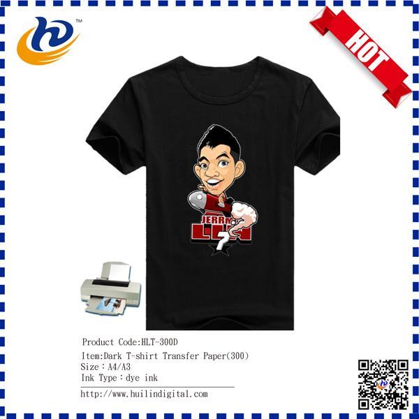 Inkjet printing t shirt heat transfer paper for dark for Best quality t shirt transfer paper