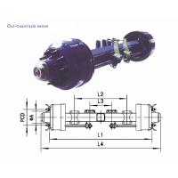 Wholesale Drum Axles Aftermarket Truck Parts American Type Out Board Axle 8T - 20T from china suppliers