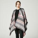 New European and American imitation cashmere cloak big frame jacquard open fork