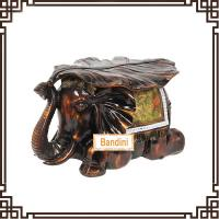 Wholesale Imitation wood like colour elephant stool home decor wedding gift resin FG065AM from china suppliers