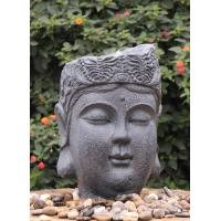 China Garden Ornaments Buddha Face Water Fountain With Lights Outdoor  wholesale
