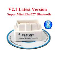 Wholesale V2.1 OBD2 ELM327 Interface Bluetooth Diagnostic Code Scanner For Cars from china suppliers
