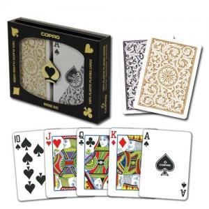 China XF Brazil Copag 1546|Bridge Regular Index|Black and Gloden|Double Deck|plastic poker in Texas Holdem Poker Analyzer on sale