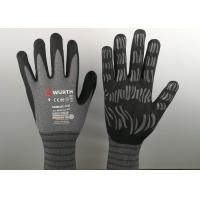 Wholesale Micro Foam Insulated Nitrile Gloves , Nitrile Dipped Gloves Raised Grain Pattern from china suppliers