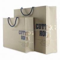 Wholesale Non-toxic Paper Bags with Glossy Lamination, Fashionable Design, Various Sizes are Available from china suppliers