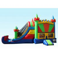 Wholesale 27Ft Colorful Inflatable Bouncer Combo Cold-resistant & Fire-retardant from china suppliers