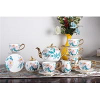 Wholesale Exquisite Noble 230ml 11cm Height Gilt Porcelain Espresso Coffee Set from china suppliers