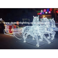Wholesale christmas horse lighted carriage from china suppliers