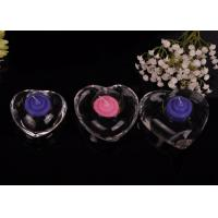 China High White Transparent glass tealight candle holders for wedding centerpieces , Heart Shape wholesale