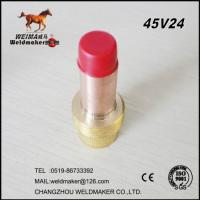 Buy cheap 45V24 gas lens tig torch collet body from wholesalers