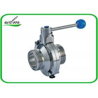 Hygienic Grade Stainless Steel Butterfly Valve , Male Or Female Thread Butterfly Valves