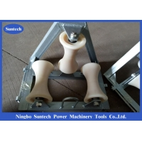 Buy cheap 10kn Load Nylon Triple Corner Cable Pulling Rollers from wholesalers
