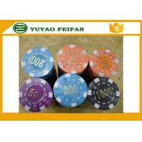 Wholesale ABS High Quality Poker Chips Dice Striped Plastic Poker Chip With Numbers from china suppliers