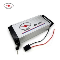 Wholesale 1000 Cycles 48V 20Ah 30Ah 2000W Rear Rack Ebike Battery from china suppliers
