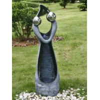 Stone Color Statue Water Fountains , Decorative Garden Fountains For House
