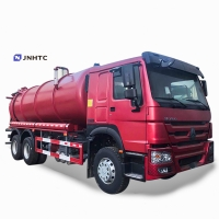 Wholesale HOWO 336ps 16cbm diesel euro2 10 wheels 6x4e Sewage Suction Truck Slops waste cesspoolage water fecal-sewag from china suppliers