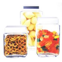 colorful glass storage canister set,popular glass canister jar